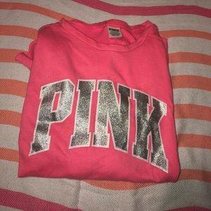 Pink Victoria Secret long sleeved shirt